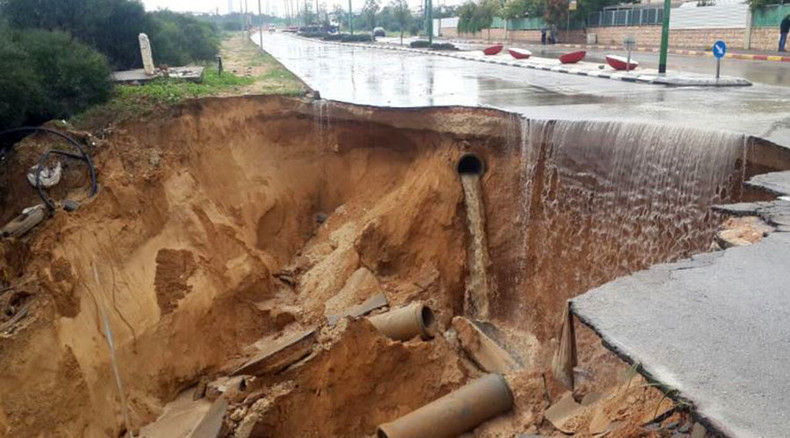 Heavy flooding in Israel leads to road collapse, submerged cars (VIDEOS)