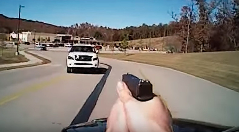 Cop shoots at woman attempting to run him down, both survive (VIDEO)
