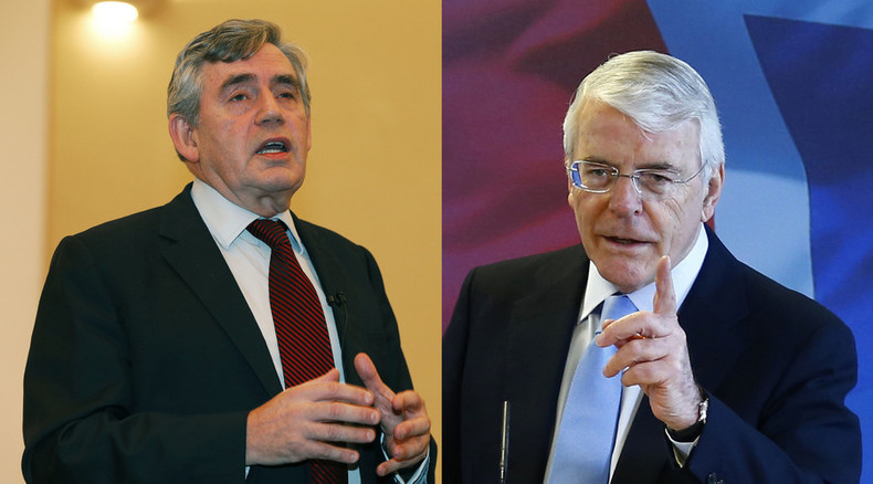 Ex-PMs Gordon Brown & John Major condemn Osborne's attacks on welfare
