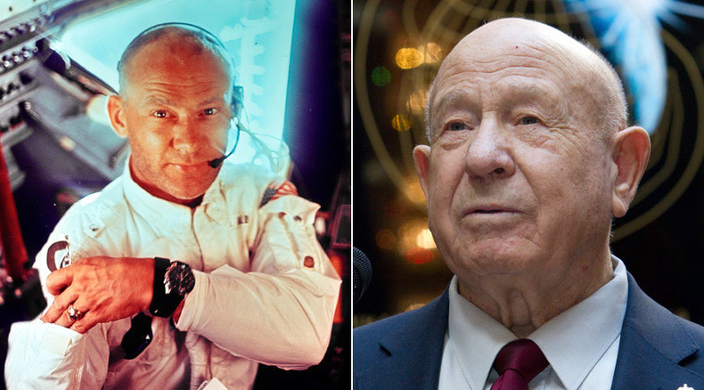 'So happy to see my friend': Former spacemen Aldrin & Leonov reunite in Switzerland
