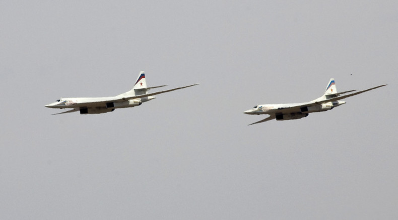 Russia's long-range bombers start hitting ISIS targets in Syria (FIRST VIDEO)