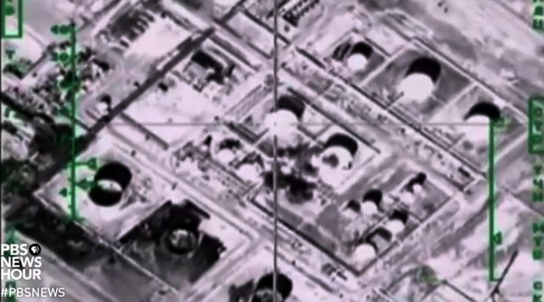 Epic bombing fail? PBS uses Russian footage to depict US airstrikes on ISIS oil fields