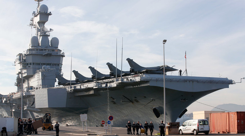 French aircraft carrier Charles de Gaulle launches first anti-ISIS missions in Syria & Iraq
