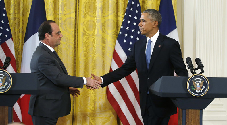 Obama, Hollande call on Turkey and Russia to prevent escalation after jet downing