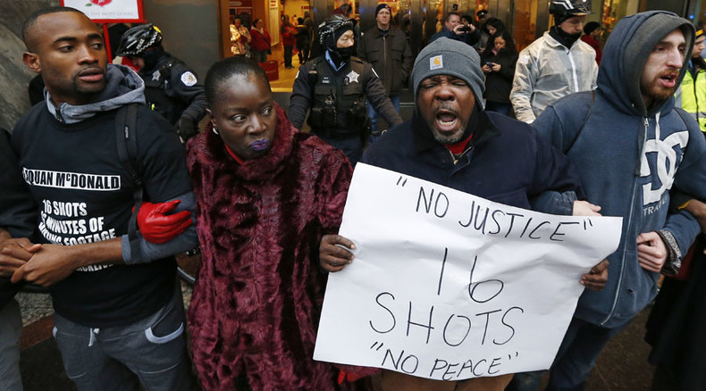'Black Lives Matter not Black Friday!' Day of action across US over Laquan McDonald shooting