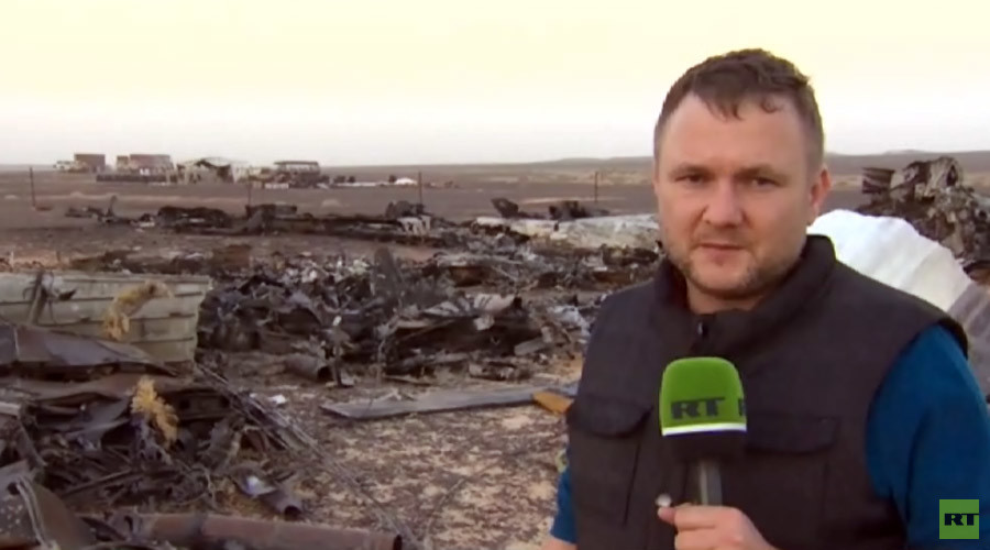 RT EXCLUSIVE: First look at site of Russian jet crash in Sinai (VIDEO)