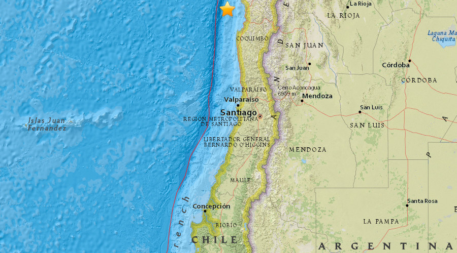 6.9 quake, powerful aftershocks strike off Chilean coast