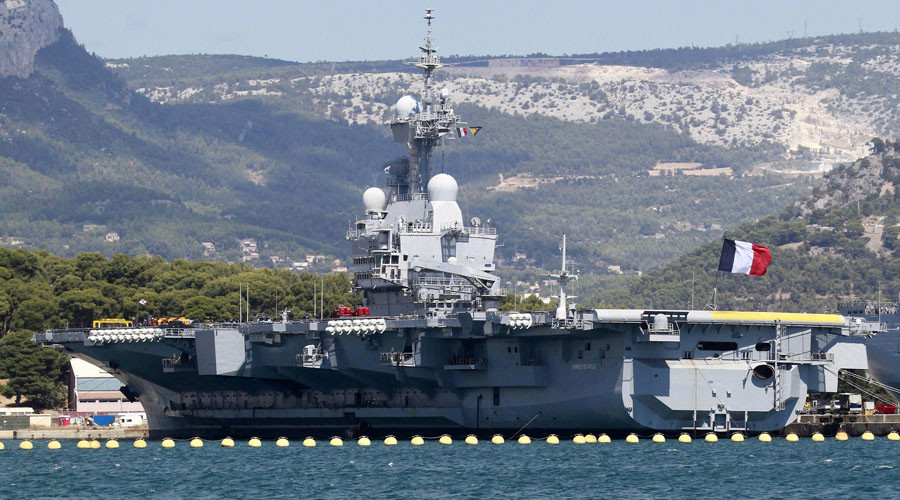 France's only aircraft carrier to leave for Middle East on Wednesday