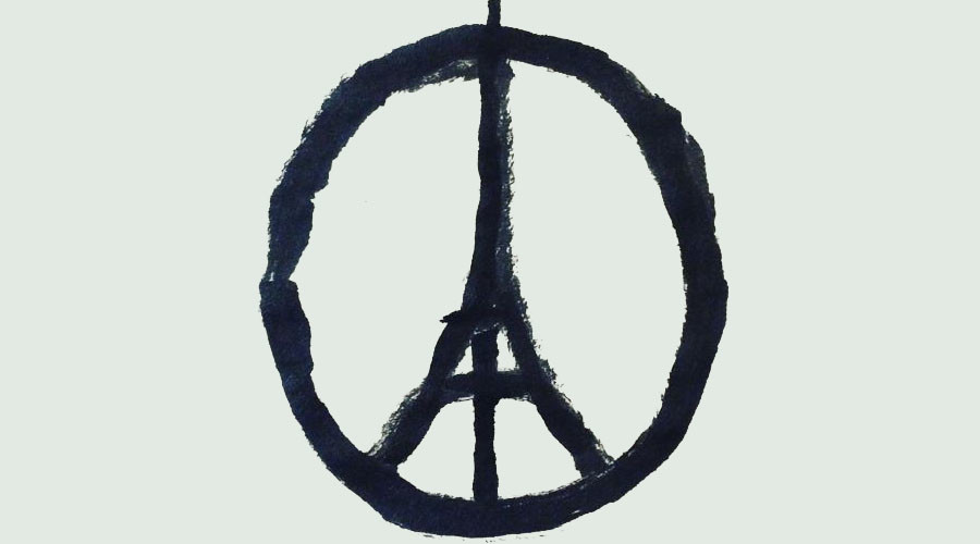 Eiffel Tower as peace symbol goes viral, as thousands send prayers to Paris following deadly attacks