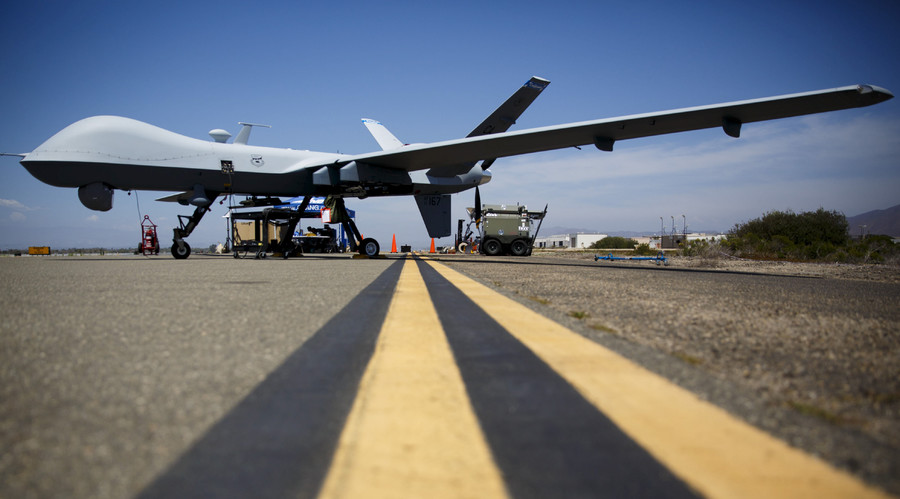 RAF Reaper drone supports French anti-ISIS airstrikes in Raqqa