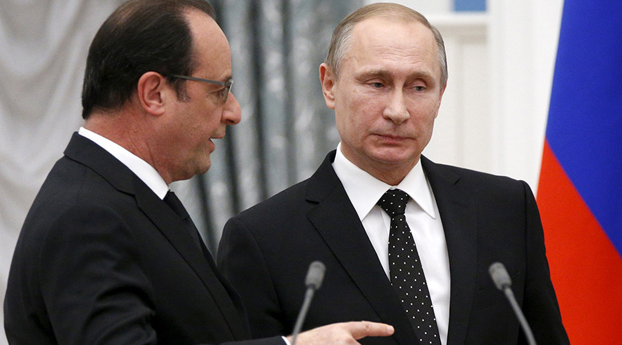 Putin and Hollande go after Erdogan's racket