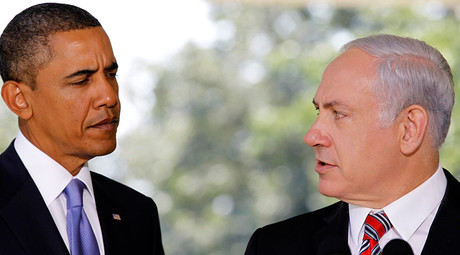 U.S. President Barack Obama (L) listens as Israeli Prime Minister Benjamin Netanyahu © Jason Reed