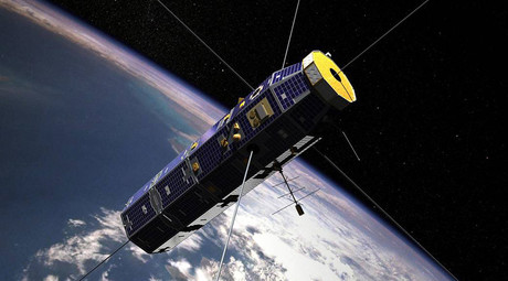 © U.S. Air Force's Communications  /Navigation Outage Forecast System (C/NOFS) / NASA Coupled Ion Neutral Dynamic Investigation (CINDI) mission satellite in orbit around Earth.