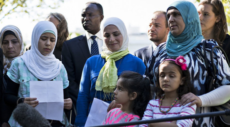 The press conference of interfaith activists appealing to the Obama administration to accept more Syrian refugees September 16, 2015 in Washington, DC. © Brendan Smialowski