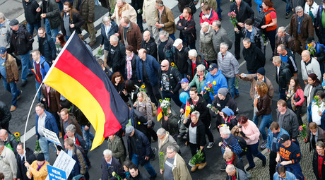 Supporters of the right-wing Alternative for Germany (AfD) demonstrate against the German government's new policy for migrants in Berlin, Germany, November 7, 2015 © Hannibal Hanschke