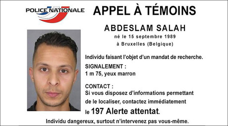 Handout picture shows Belgian-born Salah Abdeslam seen on a call for witnesses notice released by the French Police Nationale information services on their twitter account November 15, 2015. © Police Nationale