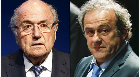IFA President Sepp Blatter and UEFA President Michel Platini © Ruben Sprich