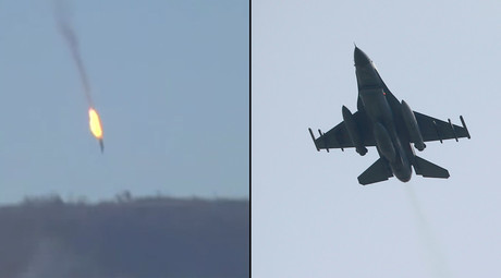 Turkish F16 fighter shot down Russian Su-24 jet over Syria, MoD confirms (VIDEO)