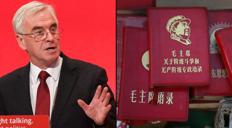 Britain's shadow Chancellor of the exchequer John McDonnell; Copies of the Little Red Book. © Luke MacGregor, Claro Cortes