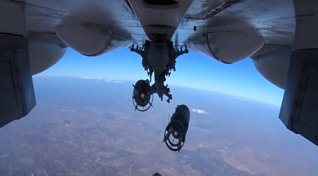 A Russian Aerospace Defense Force jet bombs Islamic State facilities in Syria ©