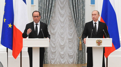 'Fighting common evil': Putin, Hollande agree to share intelligence on terrorist targets in Syria