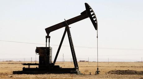 A pump jack that is seen in Raqqa province © Molhem Barakat
