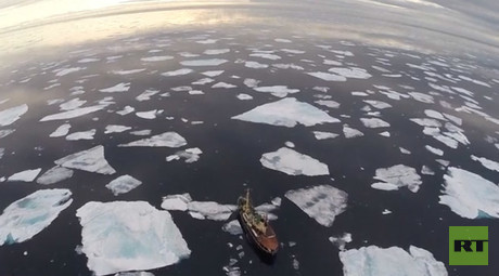 Drone video captures extent of Arctic Sea ice melting