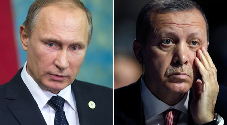 Russian President Vladimir Putin and Turkish President Tayyip Erdogan. © Sputnik