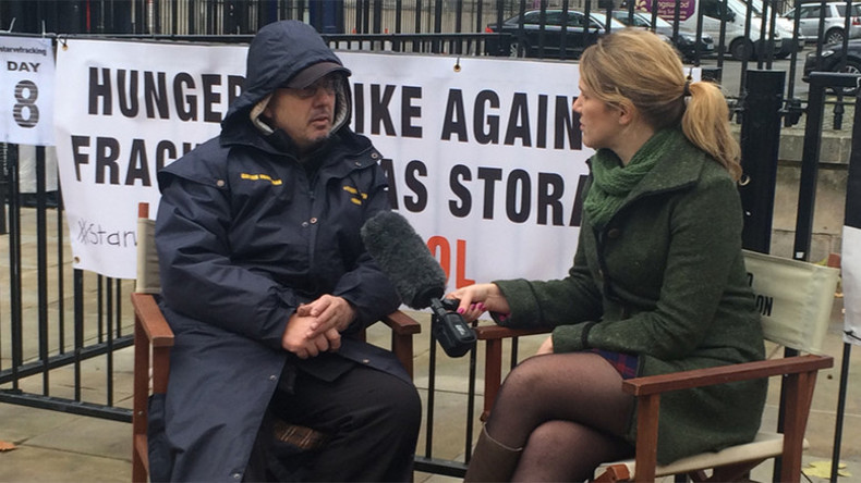 Anti-fracking hunger striker demands audience with David Cameron