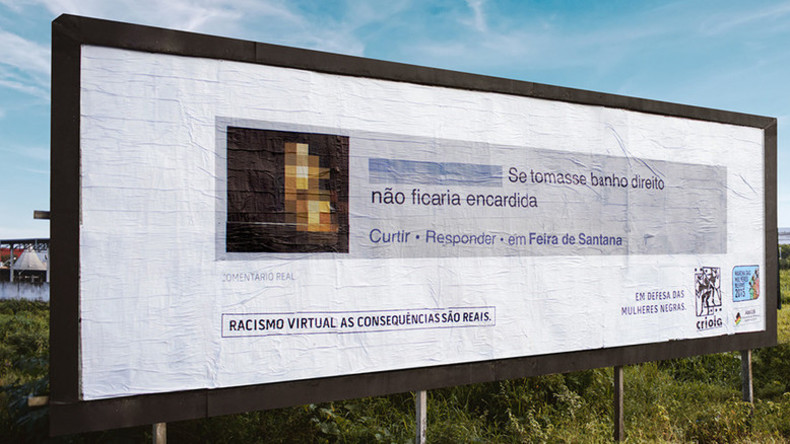 Racist Twitter, Facebook users shamed by having their messages posted on giant billboards in Brazil