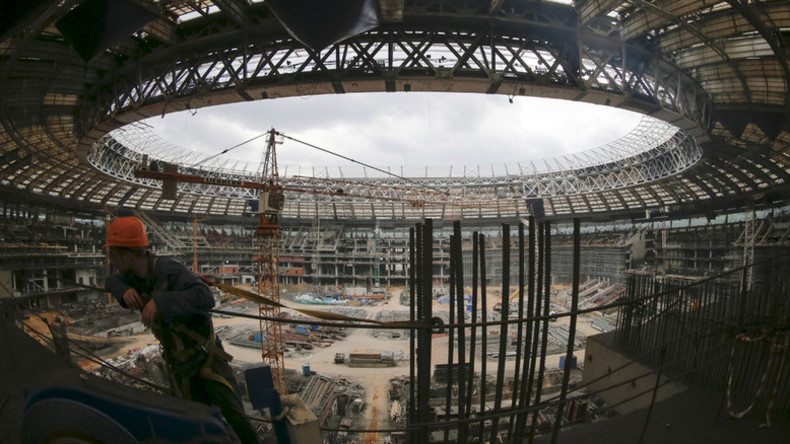 Russia on course to host 2018 World Cup despite construction delays