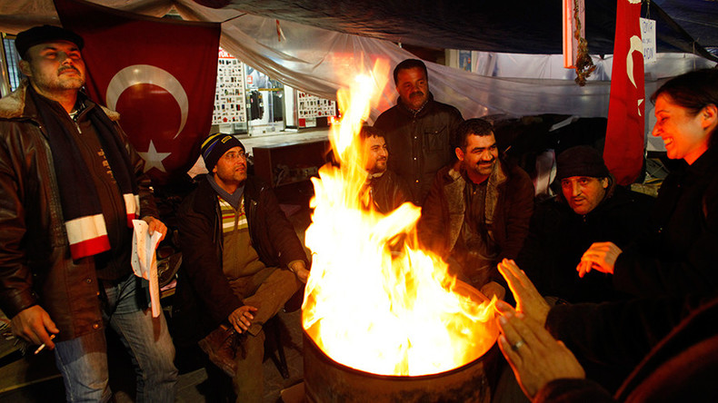 Turks fling 'dung' at President Erdogan, mull life without Russian gas