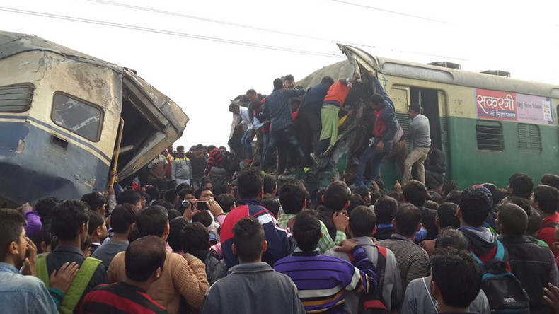 3 killed, over 100 injured as 2 trains collide head on in India