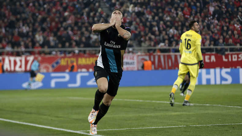 Arsenal pull off great Champions League escape as Giroud scores hat trick