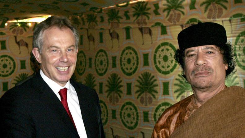 Blair denies 'protecting' Colonel Gaddafi