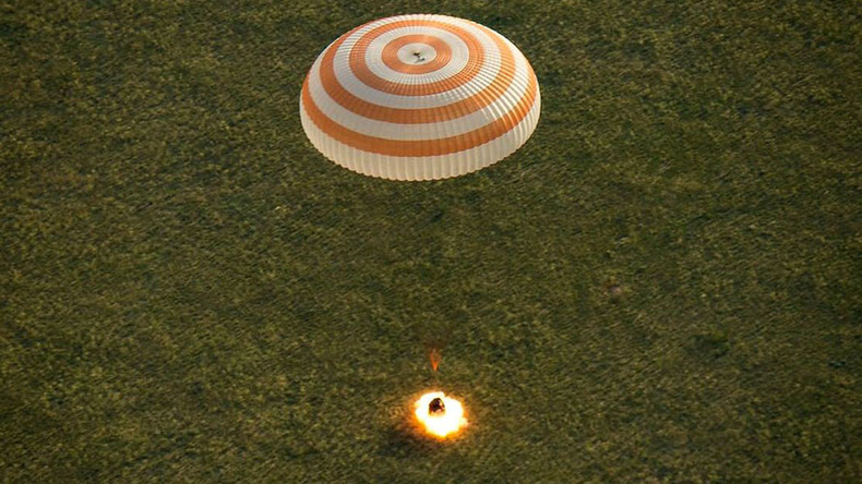 ISS trio lands safe & sound in Kazakhstan, 1st return from space after sunset