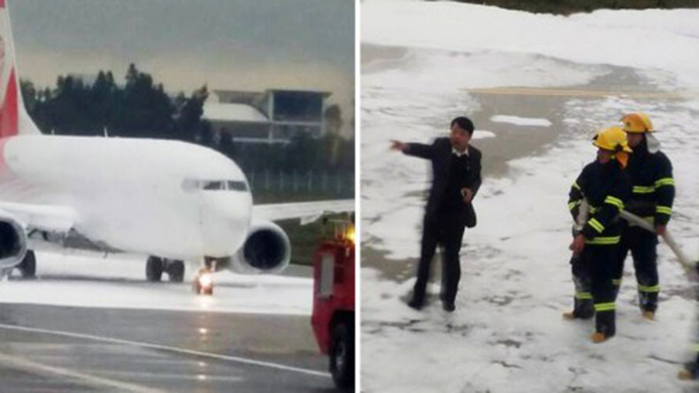 Chinese firemen spray wrong plane with foam, cause 10hr delay