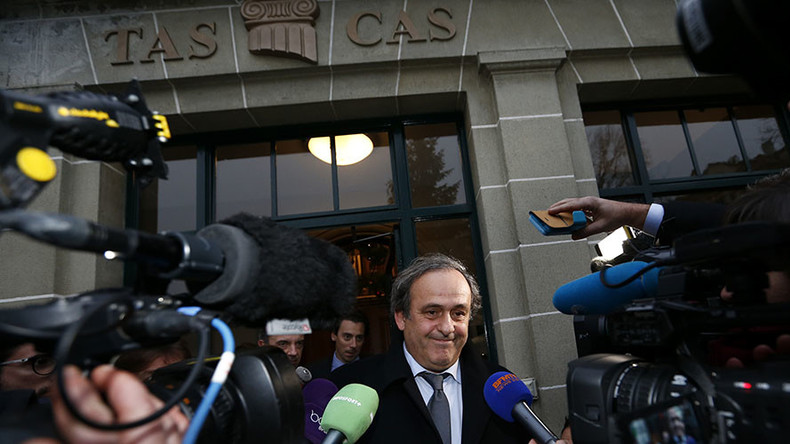 CAS rejects Platini appeal against 90-day suspension