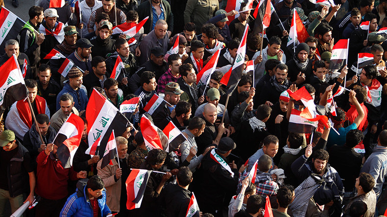 Thousands of Iraqis protest against Turkey's troop deployment in north