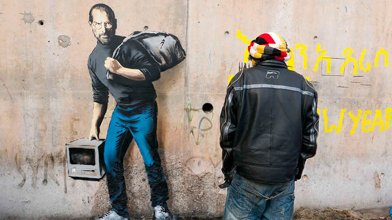 Banksy graffiti of Steve Jobs in Calais 'Jungle' migrant camp to be protected – authorities