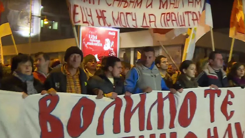 'Murderers': Thousands gather in Montenegro capital to protest NATO membership (VIDEO)