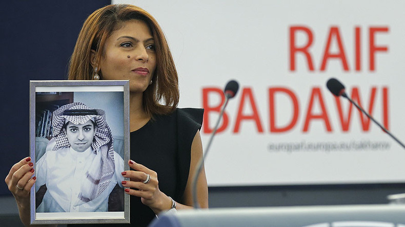 'Brave enough to say no to their barbarity': Jailed Saudi blogger awarded Sakharov Prize