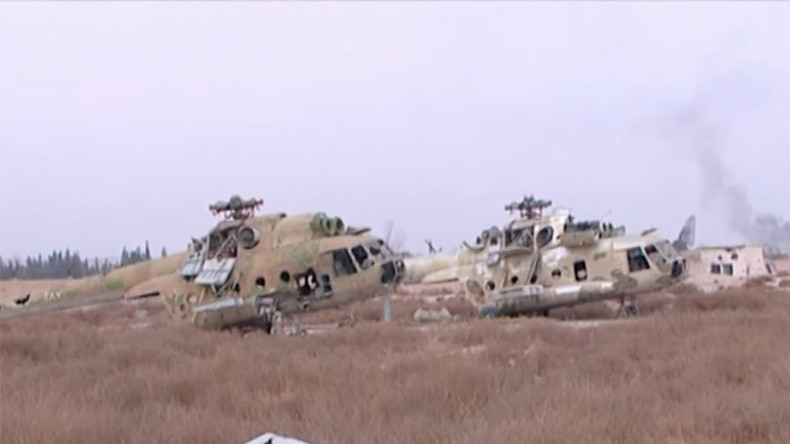 First footage from recaptured Syrian airbase near Damascus (VIDEO)