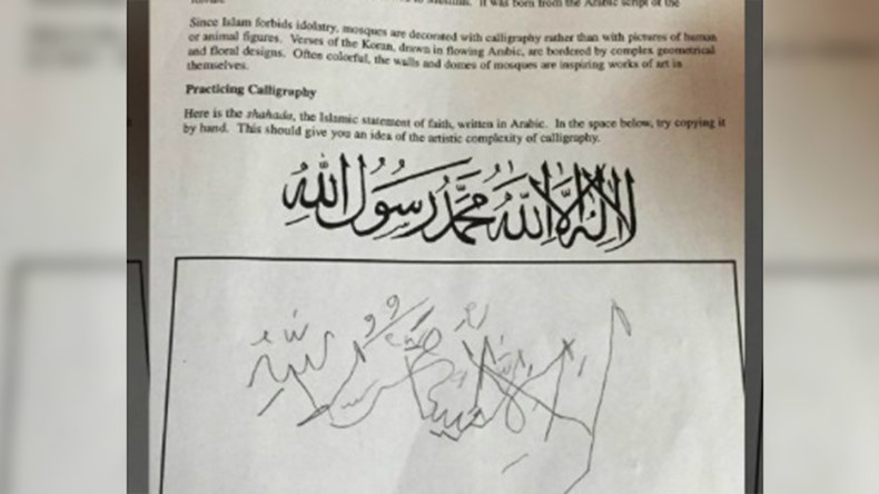 Virginia county closes schools over Arabic calligraphy homework