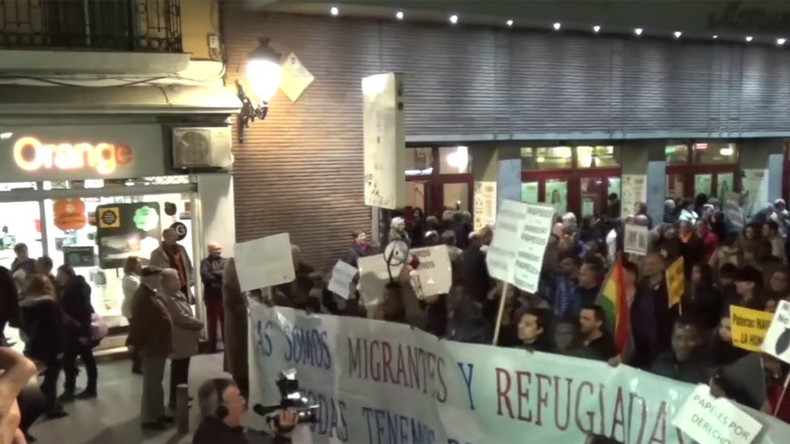 Hundreds join refugee solidarity rally in Madrid, slamming NATO invasions (VIDEO)