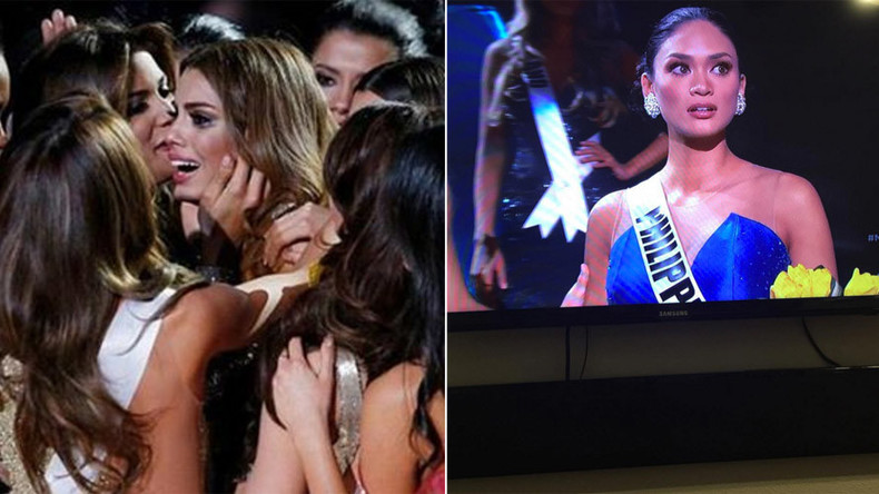 And the winner isn't… Chaos in Las Vegas as wrong contestant crowned Miss Universe