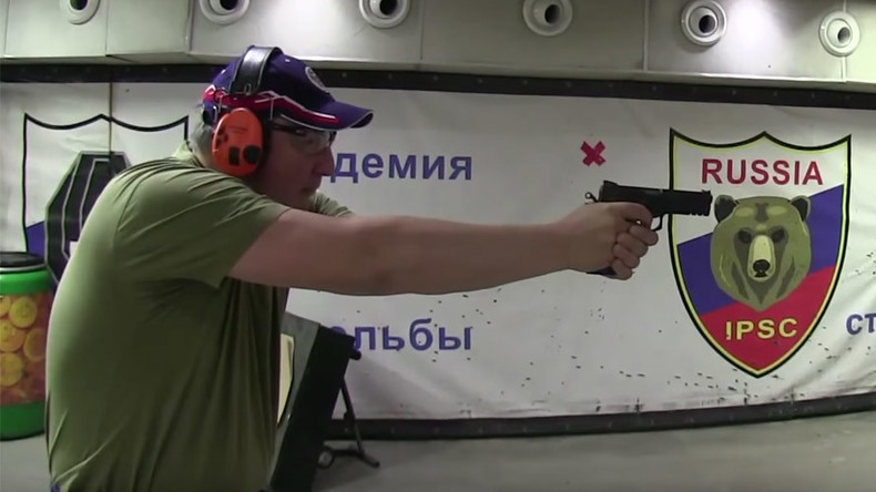 Defense industry chief Rogozin demonstrates handgun skills in YouTube video