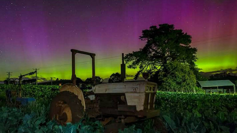 Strewth! Tasmanian sky lights up with spectacular aurora