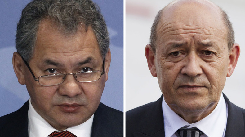 'Avoiding confrontations': French, Russian defense ministers agree on anti-ISIS coordination