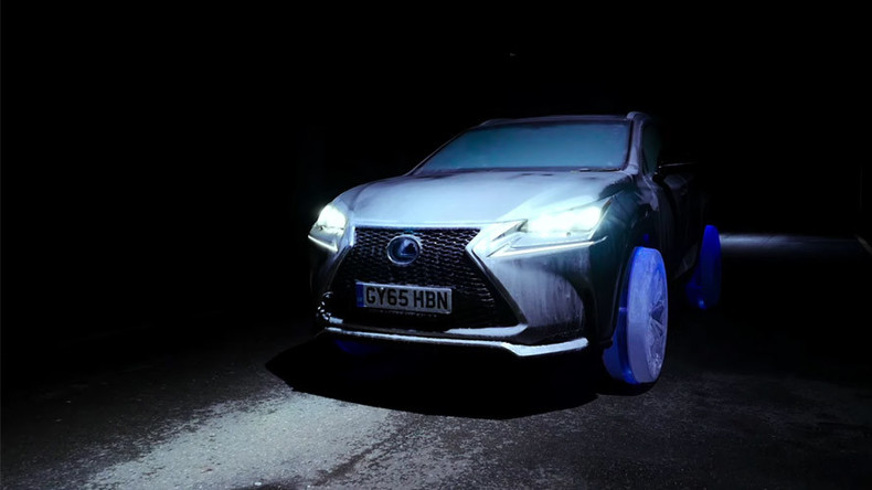 Cool Runnings: Lexus produces car with tires made of ice